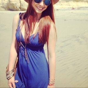 Long Blue Max & Cleo Dress